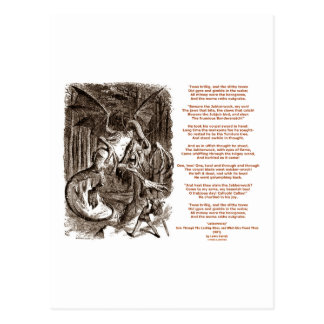Poema de Jabberwocky de Lewis Carroll Postales