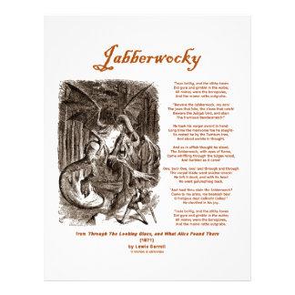 Poema de Jabberwocky de Lewis Carroll (serpiente n Membrete A Diseño