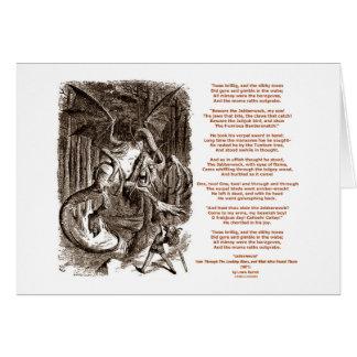 Poema de Jabberwocky de Lewis Carroll Tarjeton