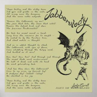Poema de Jabberwocky Impresiones
