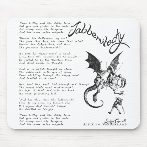 Poema de Jabberwocky Alfombrilla De Raton