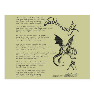 Poema de Jabberwocky Postales