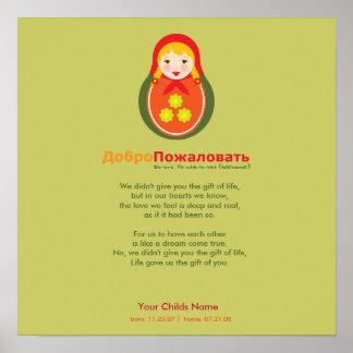 Poema de la adopción - ruso Matroyshka Poster