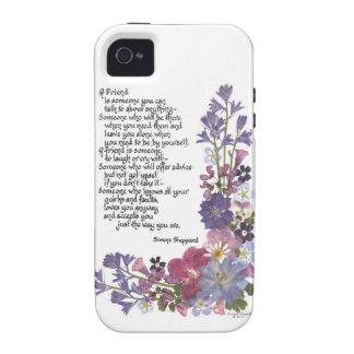 Poema de la amistad vibe iPhone 4 carcasa
