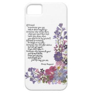 Poema de la amistad iPhone 5 Case-Mate protectores