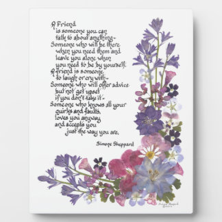 Poema de la amistad placas para mostrar
