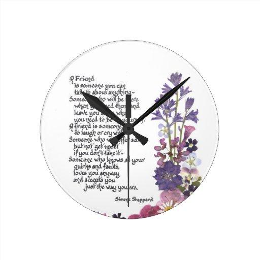 Poema de la amistad relojes