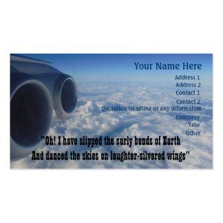 Poema de la aviación para los aviadores tarjetas de visita