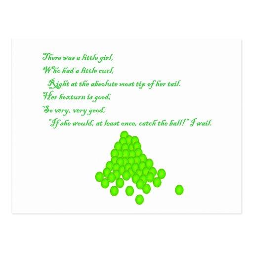Poema de la bola al aire postal