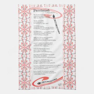 poema de la brocha toallas de mano