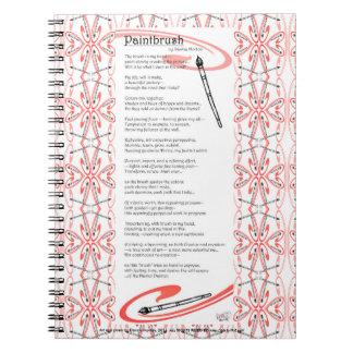 poema de la brocha spiral notebook