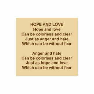 Poema de la esperanza y del amor de Kristie Hubler Esculturas Fotograficas