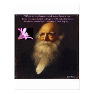 Poema de la flor de Guillermo Cullen Bryant Postales