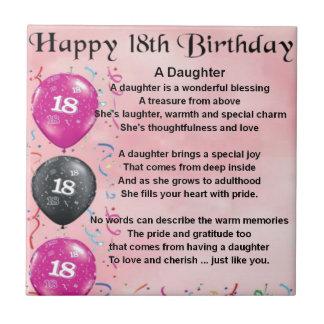 Poema de la hija - décimo octavo cumpleaños teja