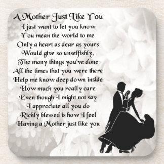Poema de la madre - diseño de los bailarines del posavasos
