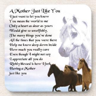 Poema de la madre - diseño de los caballos posavaso