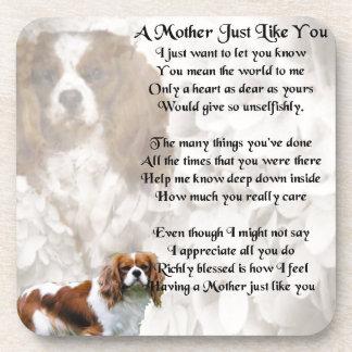 Poema de la madre - diseño del perro de aguas de posavasos de bebidas