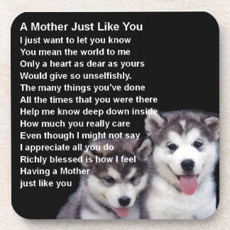 Poema de la madre - diseños fornidos de los perros posavasos de bebidas