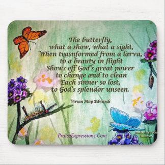 Poema de la mariposa 5x7 w, PraiseExpressions.Com Alfombrilla De Ratones