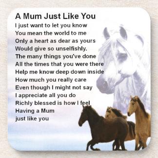 Poema de la momia - diseño de los caballos posavasos de bebidas