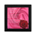 Poema de la nieta - seda rosada y subió cajas de regalo