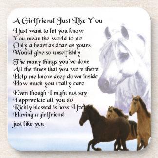 Poema de la novia - diseño de los caballos posavaso
