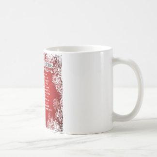 Poema de la nuera - diseño del navidad taza