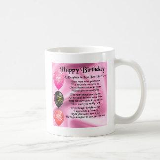Poema de la nuera - feliz cumpleaños taza de café