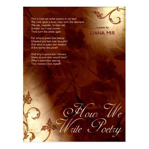 Poema de la postal: Cómo escribimos poesía