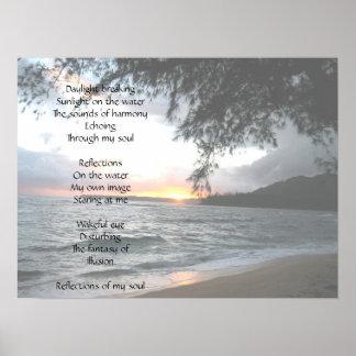 Poema de la reflexión póster