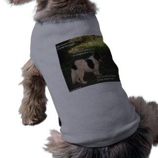 Poema de la ropa del mascota cualquier sueño de lo playera sin mangas para perro