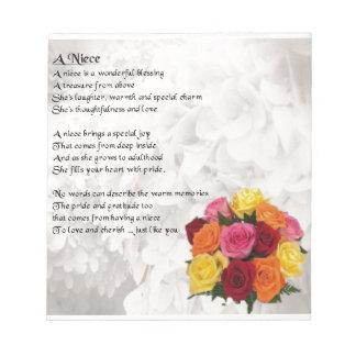 Poema de la sobrina - flores libretas para notas