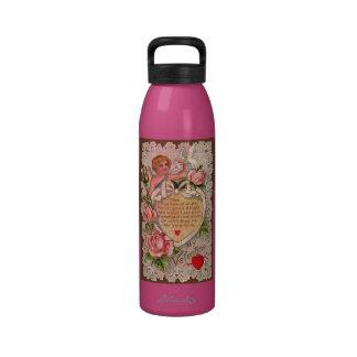 Poema de la tarjeta del día de San Valentín con el Botella De Agua Reutilizable