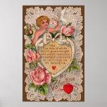 Poema de la tarjeta del día de San Valentín con el Posters