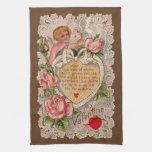 Poema de la tarjeta del día de San Valentín con el Toallas De Mano