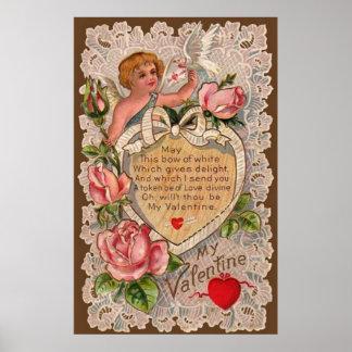 Poema de la tarjeta del día de San Valentín con el Póster