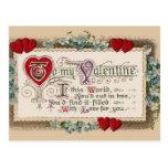 Poema de la tarjeta del día de San Valentín con Postal