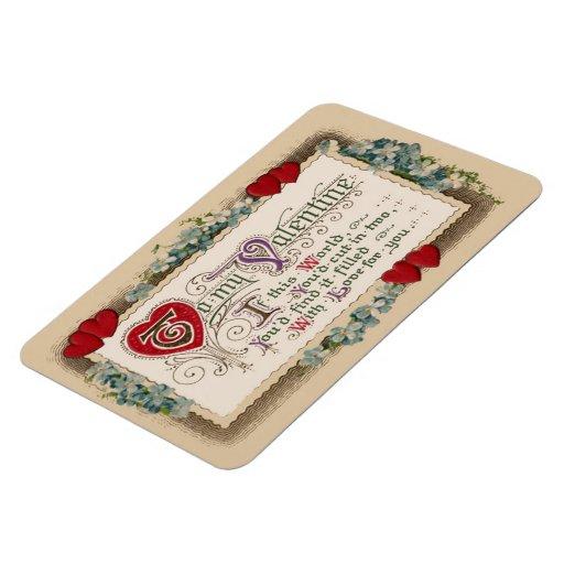 Poema de la tarjeta del día de San Valentín Imanes De Vinilo