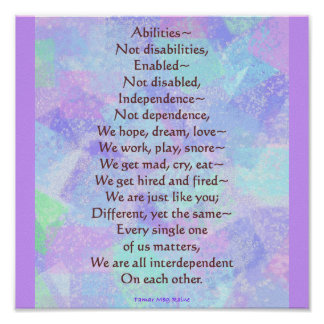 Poema de las capacidades poster