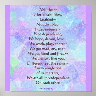 Poema de las capacidades póster