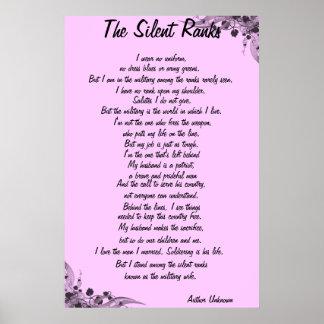 """Poema """"de las filas silenciosas"""" póster"""