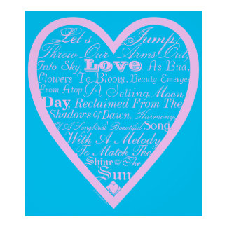 Poema de las tarjetas del día de San Valentín del Impresiones