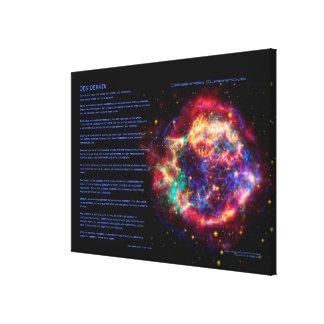 Poema de los desiderátums, Cassiopeia, supernova d Impresiones En Lona