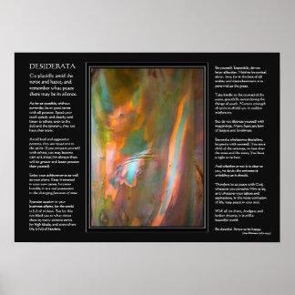 Poema de los desiderátums - corteza de árbol de eu poster