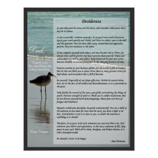 Poema de los desiderátums - gaviota en el poster d