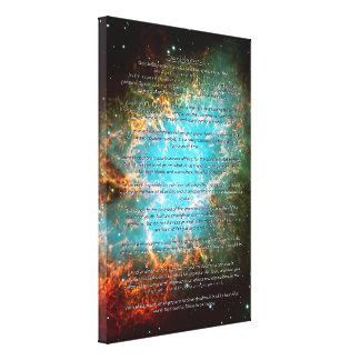 Poema de los desiderátums - la nebulosa de cangrej impresión en lienzo estirada
