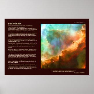 Poema de los desiderátums - la nebulosa de Omega,  Poster
