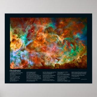 Poema de los desiderátums - nebulosa de Carina en Posters