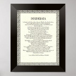 Poema de los DESIDERÁTUMS por Ehrmann máximo Póster