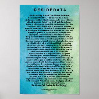 Poema de los desiderátums por la acuarela póster